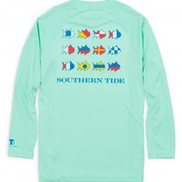 KIDS NAUTICAL FLAGS LONG SLEEVE PERFORMANCE T-SHIRTStyle: 2676