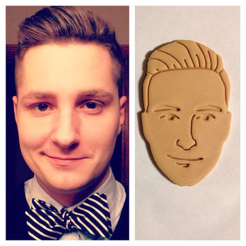 Picture to Cookie Cutter Custom Face Cookie or Fondant Cutters