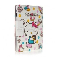 Ecell - HELLO KITTY LEATHER CASE COVER & STAND FOR APPLE iPAD 2
