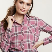 Pinking About You Flannel Shirt