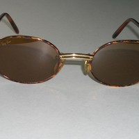 B&L RAY-BAN W2543 DOUBLE BAR SLEEK TORTUGA B15 DRIVING OVAL AVIATOR SUNGLASSES