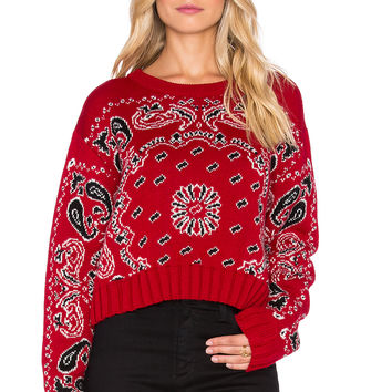 Jen's Pirate Booty Vagabond Crop Sweater in Old West Red