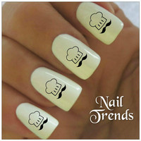Nail Decal Chef 20 Vinyl Stickers Nail Art