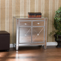 Hamilton 2 Drawer Mirrored Cabinet
