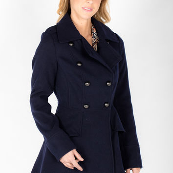 Peplum Peacoat - Women's Clothing and Fashion Accessories | Bohme Boutique