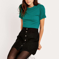 Urban Outfitters Plain Ribbed Pocket Tee - Urban Outfitters
