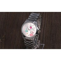 TOUS new trendy men and women with the same fashion wild quartz watch F-YY-ZT silver