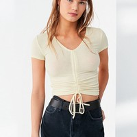 Out From Under Alexa Ruched Short Sleeve Top | Urban Outfitters