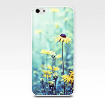 floral iphone case 5s iphone 4s case botanical case flower iphone case 4 iphone 5 case daisy iphone case mint lilac iphone case girly nature