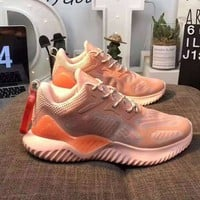 Adidas AlphaBounce Fashionable Men Women Casual Running Sport Sneakers Shoes Pink