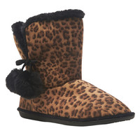 Leopard Pom Pom Most Wanted Boot - WetSeal