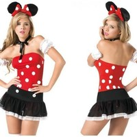 Playful Cute Minnie Mouse Costume