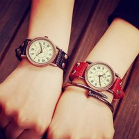 New Arrival Gift Awesome Great Deal Trendy Designer's Good Price Stylish Korean Vintage Dial Simple Design Watch [6045788225]