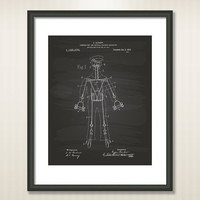 Physical Culture Apparatus 1915 Patent Art Illustration - Drawing - Printable INSTANT DOWNLOAD - Get 5 Colors Background