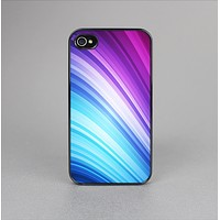 The Pink and Blue Glowing Neon Wave Skin-Sert for the Apple iPhone 4-4s Skin-Sert Case