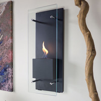 Bluworld Canello Wall Mounted Bio Ethanol Fuel Fireplace