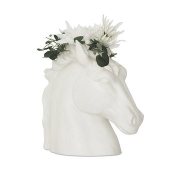 Mothers Day, Vase, Ceramic Horse Planter, Horse Decor, Horse Head, Planter, Horse Vase, White Horse Head, Florist Supplies, White Vase,