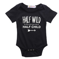 Newborn Kids Baby Boys Girls Cotton Letter Printed Romper Summer Clothing Set for Newborn Next Jumpsuits & Rompers
