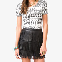 Ruched Geo Print Top | FOREVER21 - 2031556990