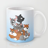 Cats and kittens cartoon Mug by MaxiHarmony