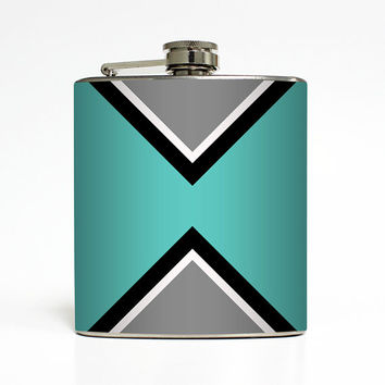 Liquor Flask Tribal Aztec Geometric 21st Birthday Women Birthday Bridesmaid Gifts Alcohol Stainless Steel 6 oz Liquor Hip Flask LC-1424