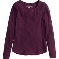 Long-sleeved Jersey Top - from H&M