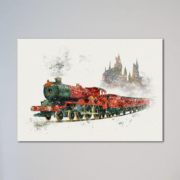 Harry Potter Hogwarts Express Poster Train Art Print Watercolor Nursery Art Wall Decor Art Picture Wall Hanging kids art express delivery
