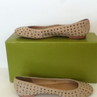 NEW Juicy Couture Jaclyn Women's Nude Suede Ballet Flats (Size 6)-MSRP $198.00!