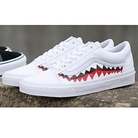 VANS BAPE AAPE Canvas Flat Sneakers Sport Shoes I-FEU-SY