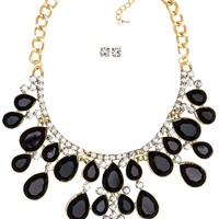 Avelyn Necklace Set - Black