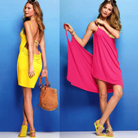 Cute Backless Beach Dress (5 Colors Available) from littleboutique