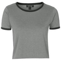 Contrast Trim Tee - Grey