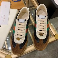 Beauty Ticks Gucci Men's Leather Low Top Sneakers Shoes #744