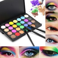 28 Colors Natural Pigment Matte Eyeshadow Palette with Brush Long Lasting Cosmetic Make Up Beauty Tools For Women Lady