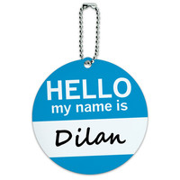 Dilan Hello My Name Is Round ID Card Luggage Tag