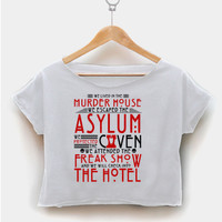 american horror story crop shirt graphic print tee for women size S,M,L,XL,2XL fashionveroshop