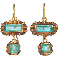 Judy Geib Emerald Double Drop Aloo Alaa Earrings | Barneys New York