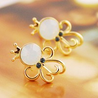 Fashion Cute Opal Octopus Earring