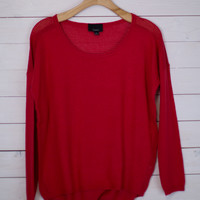 Mesh Knit Pullover Top