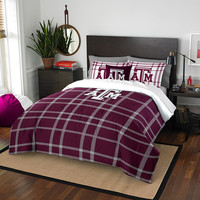 Texas A&M Aggies NCAA Full Comforter Set (Soft & Cozy) (76 x 86)