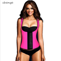 Hot Sale  Shapers  Women Waist Trainer neoprene Sexy Vest  Corsets female  Slimming body  Girdle three- breasted sweat Underwear