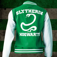 Slytherin Hogwarts unisex varsity jacket - Harry Potter