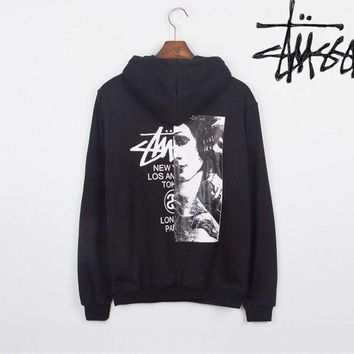 Stussy Print leisure couple with cotton Sweatershirt Hoodie