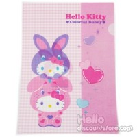 Hello Kitty Clear File : Colorful Bunny $3.99