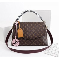 lv louis vuitton womens leather shoulder bag satchel tote bags crossbody 451