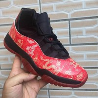 Air Jordan 11 Retro Red Dragon Black Men Sneaker - Best Deal Online