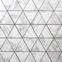 ABOLOS Nature Triangle Birchwood Gray 12 in. x 11.625 in. x 6.35 mm Glass Mosaic Tile-HMDWTJTRI-BG - The Home Depot