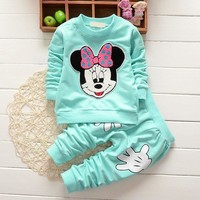 Baby Girl Clothes 2017 Spring Autumn Fashion Leisure Long Sleeved T-shirts+Pants Sets Baby Girl Outfit Kids Bebes Jogging Suits