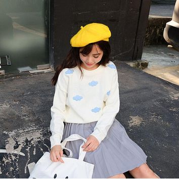 Cloud Knitted Pullover