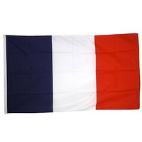 Supportershop France Drapeau de nation avec 2 oeillets...